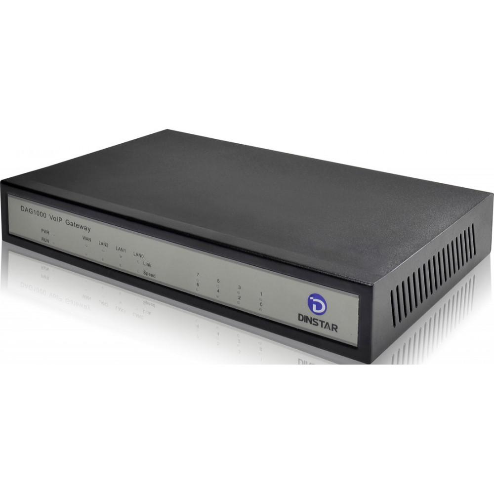 VoIP шлюз Dinstar DAG1000-8S