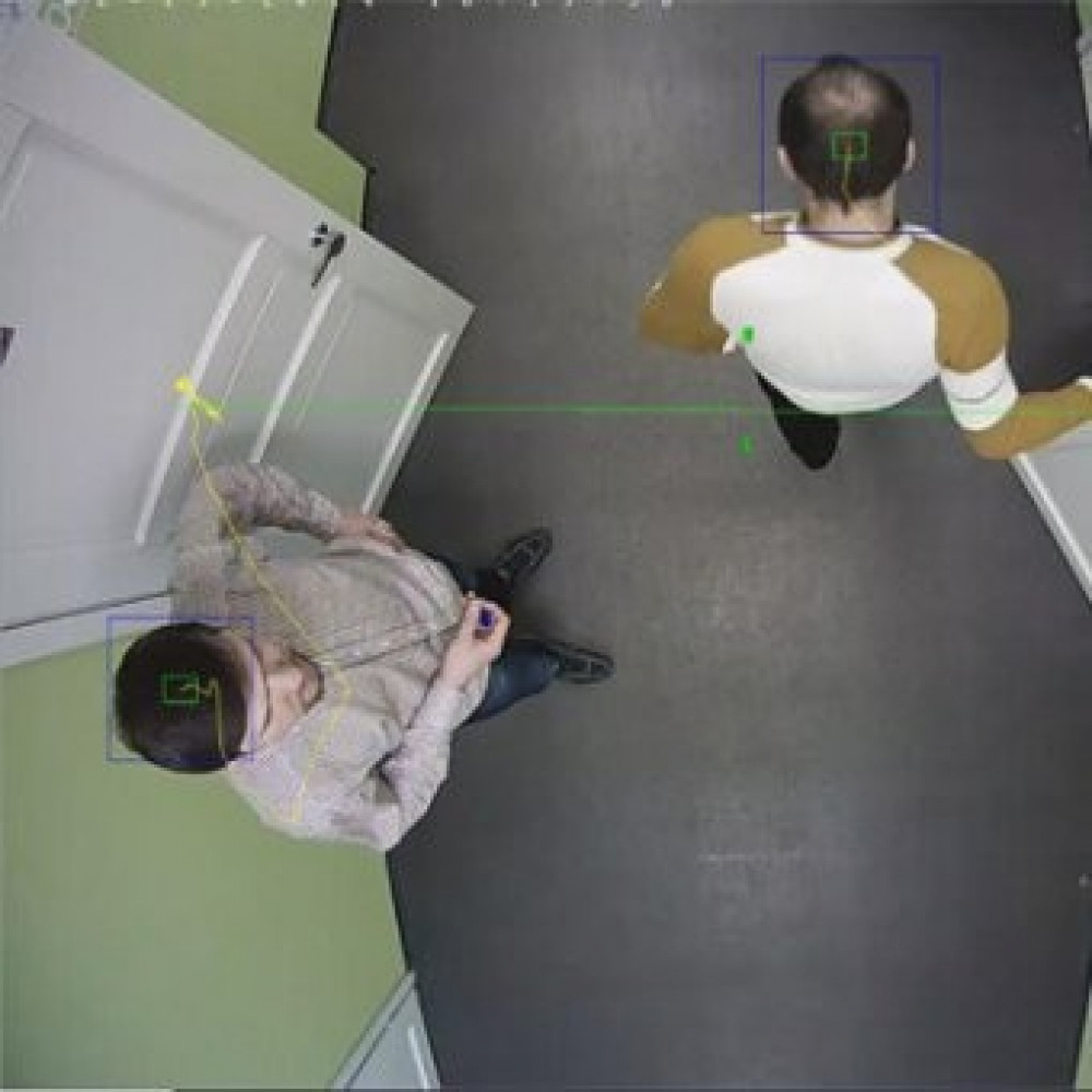 Модуль підрахунку відвідувачів проходять через задану межу TRASSIR People Counter