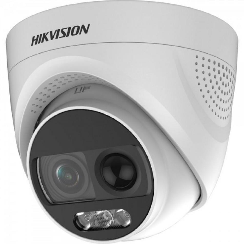 2Мп ColorVu Turbo HD відеокамера з PIR датчиком і сиреною Hikvision DS-2CE72DFT-PIRXOF (2.8 мм)