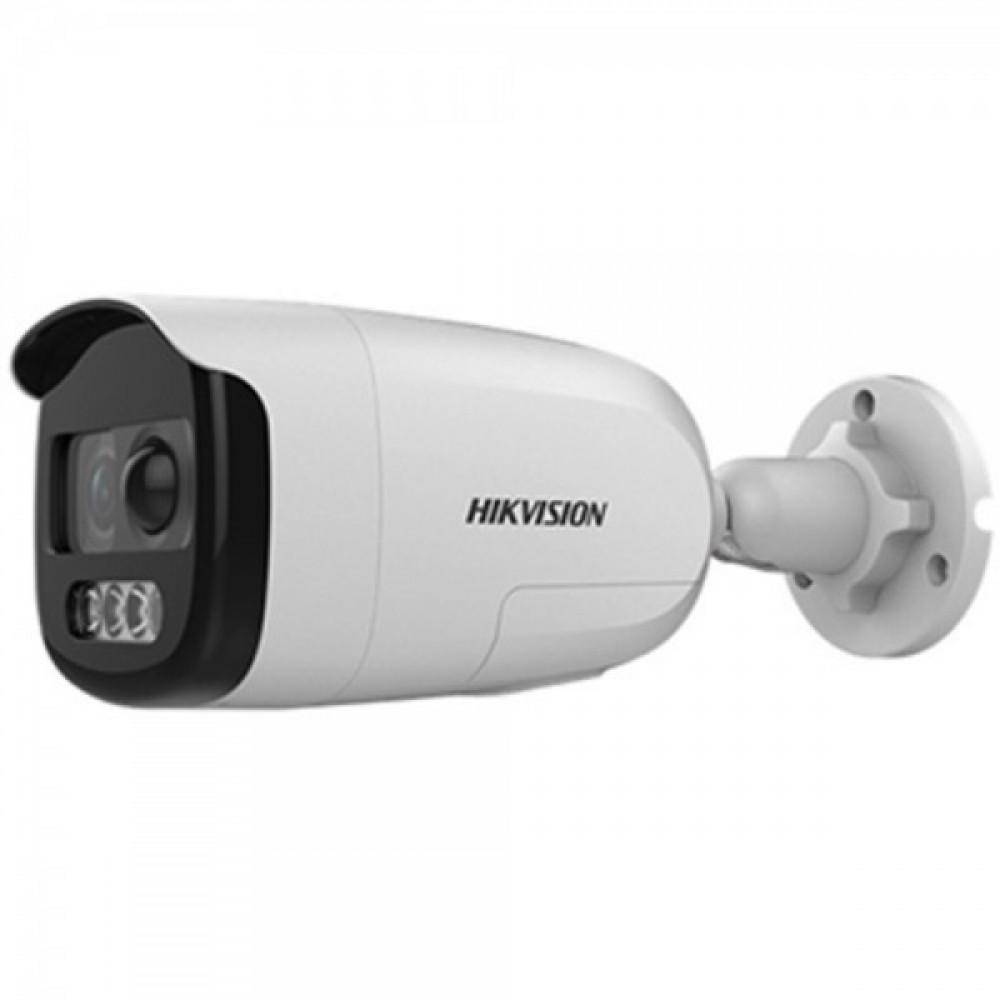 2Мп ColorVu Turbo HD відеокамера з PIR датчиком і сиреною Hikvision DS-2CE12DFT-PIRXOF (3.6 мм)