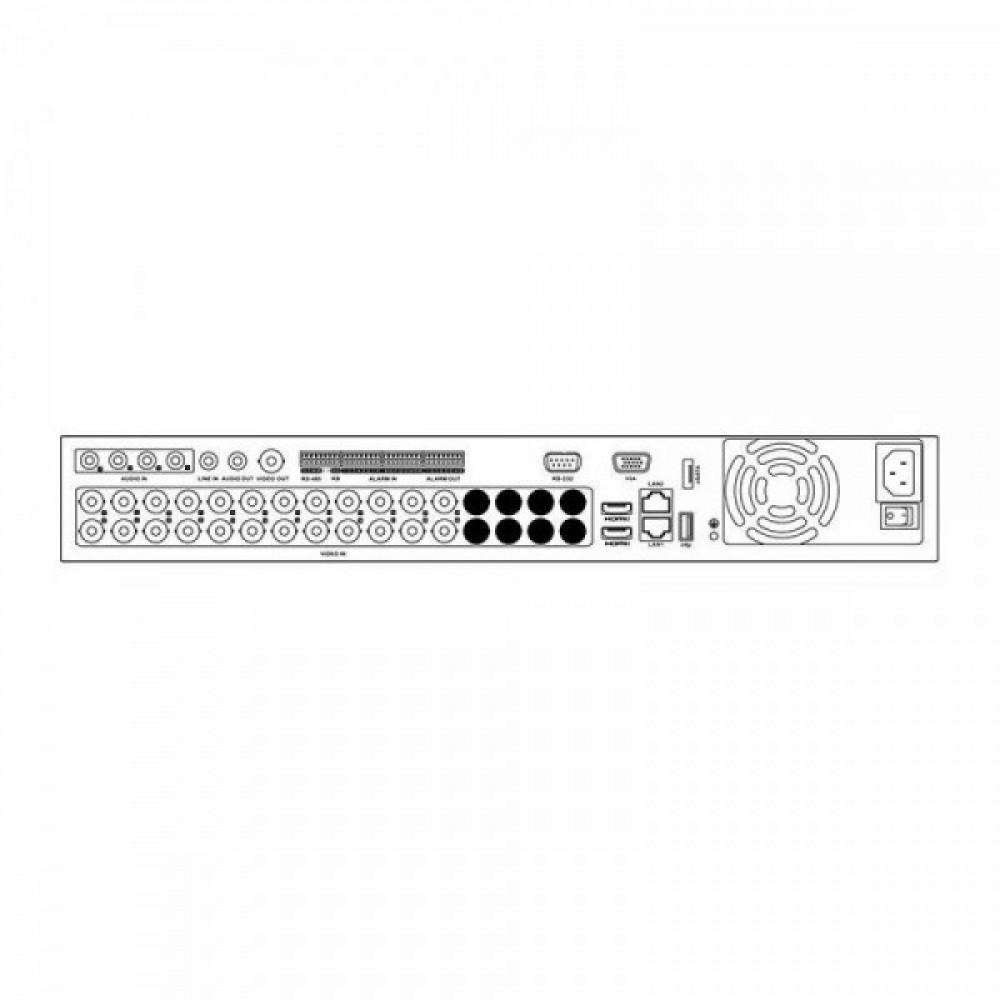 24-канальний Turbo HD відеореєстратор Hikvision DS-7324HUHI-K4