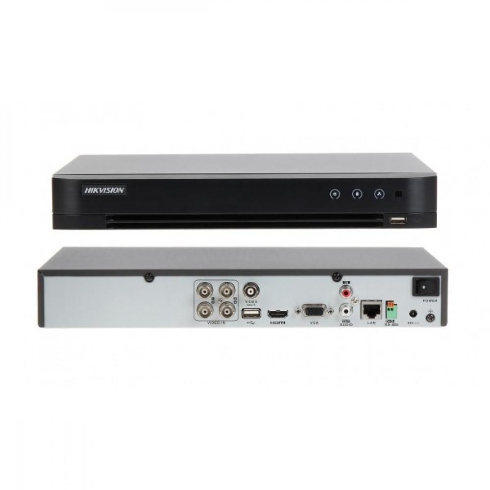 4-канальний Turbo HD відеореєстратор з підтримкою PoC Hikvision DS-7204HQHI-K1/P (PoC)