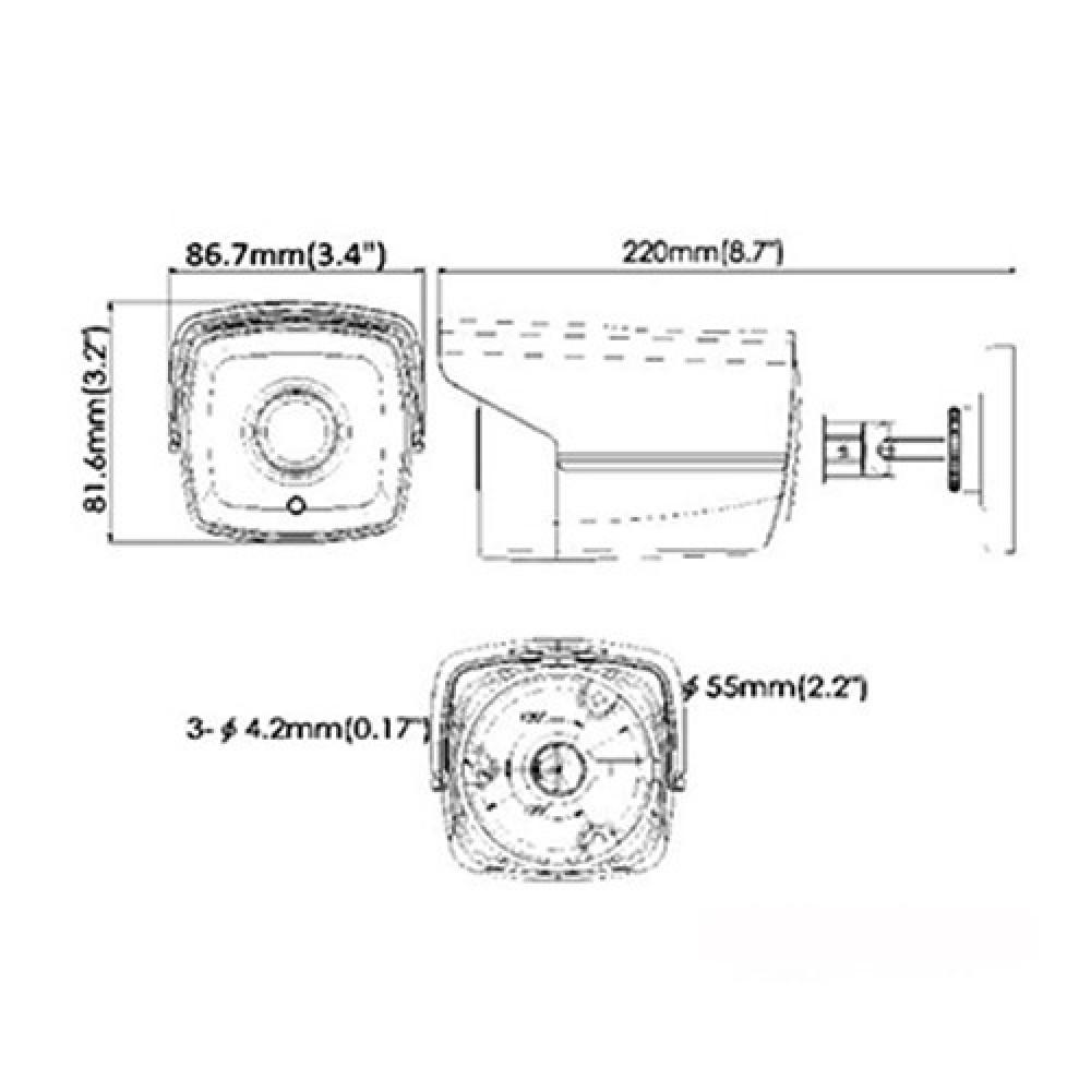 1.0 Мп Turbo HD відеокамера Hikvision DS-2CE16C0T-IT5 (3.6 мм)