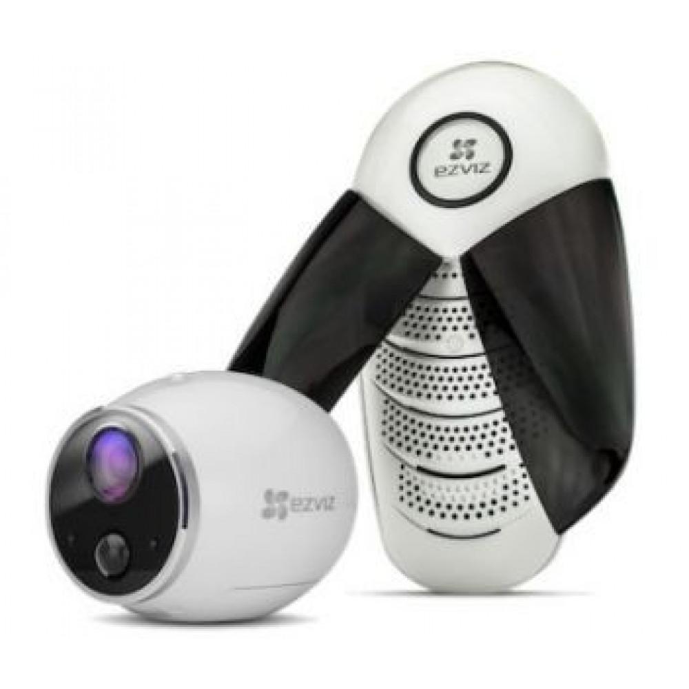 1Мп Wi-Fi камера на батарейках EZVIZ з базовою станцією CS-W2S-EUP-B1 (2,0 мм)