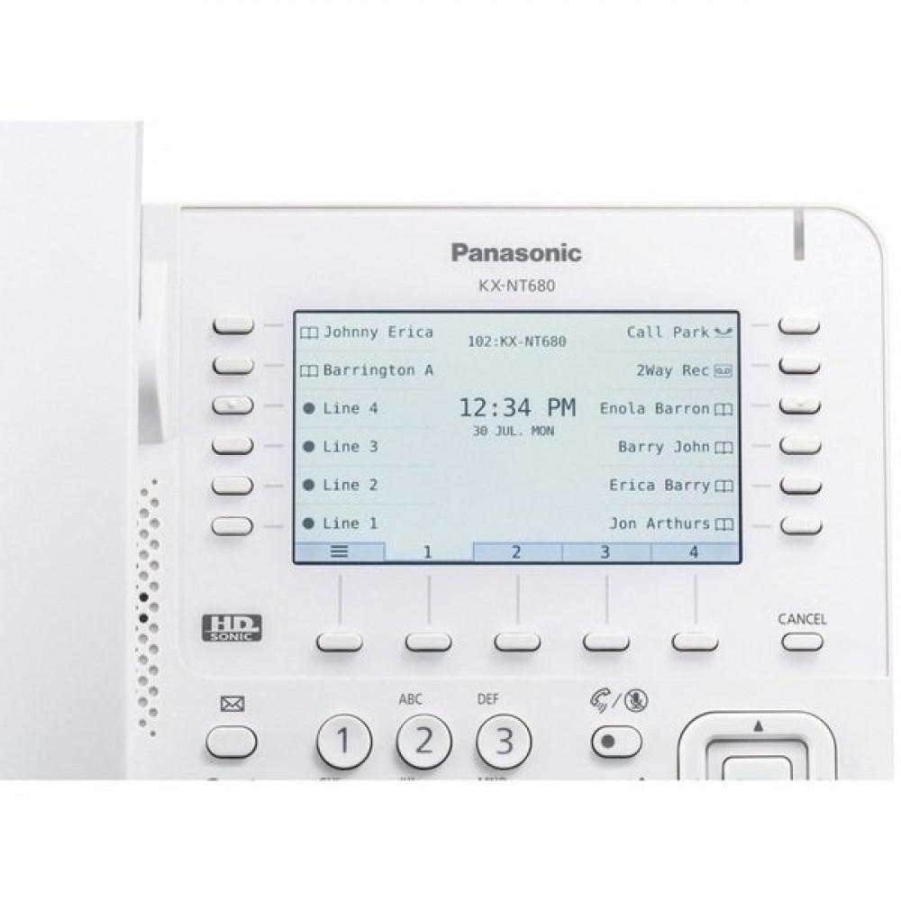 IP-телефон Panasonic KX-NT680RU White