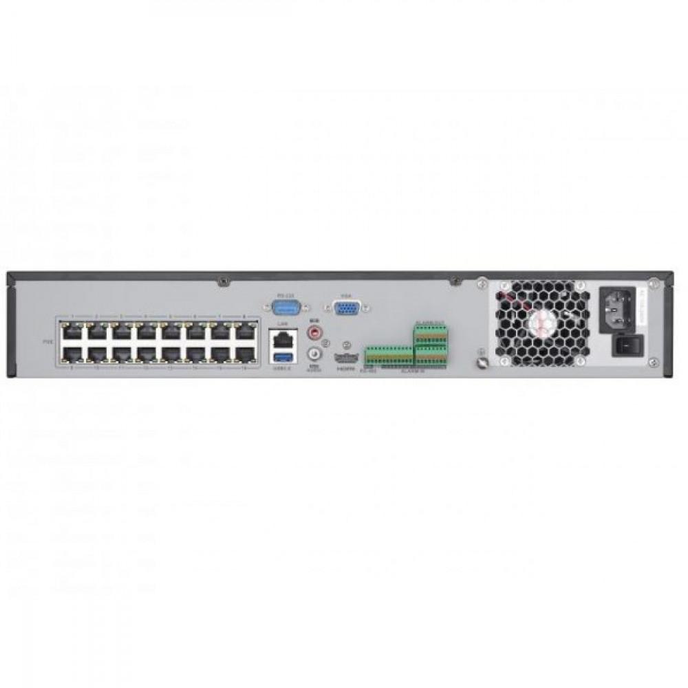 16-канальний IP відеореєстратор сРоЕ на 16 портів Hikvision DS-7716NI-I4/16P(B)